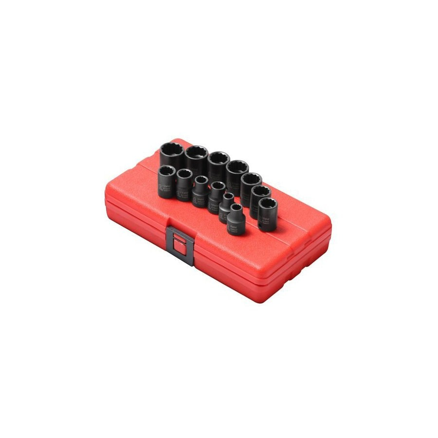 Sunex Tools 13-Piece 3/8-in Metric 12-Point Impact Socket Set