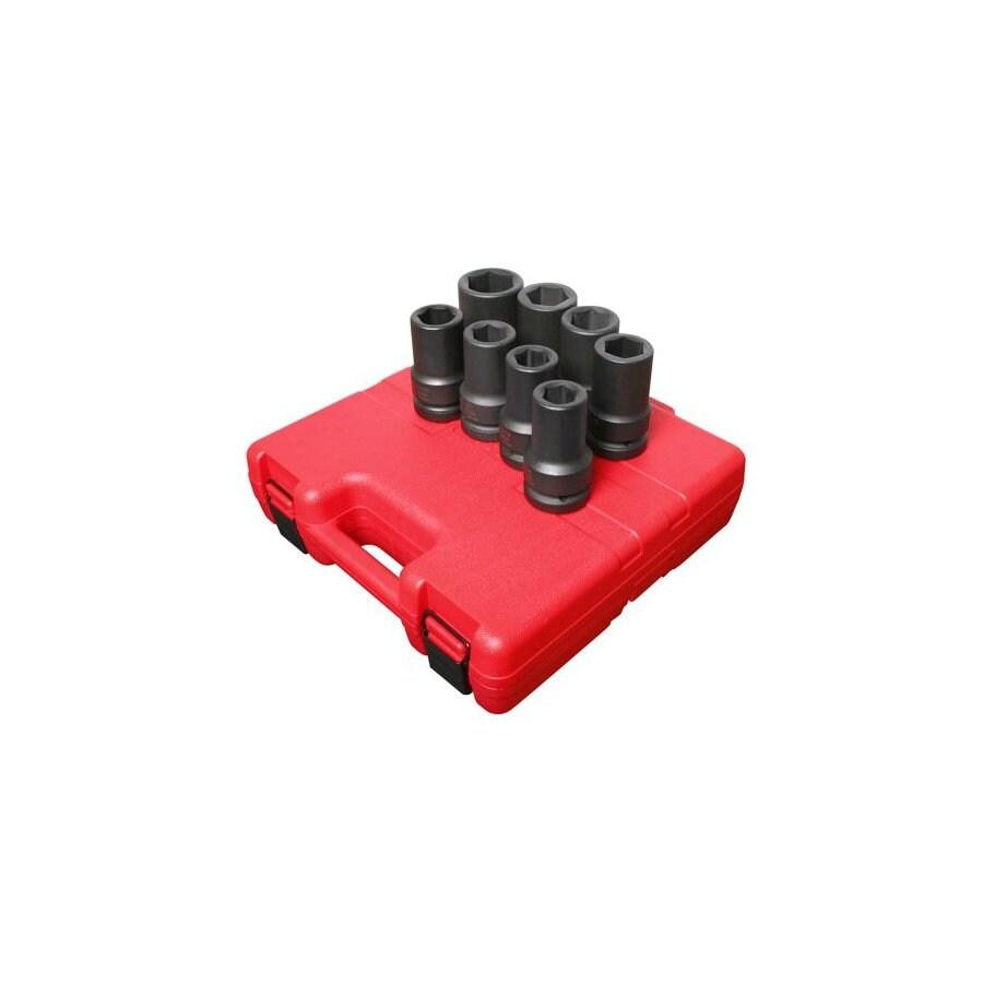Sunex Tools 8-Piece Standard 6-Point Impact Socket Set