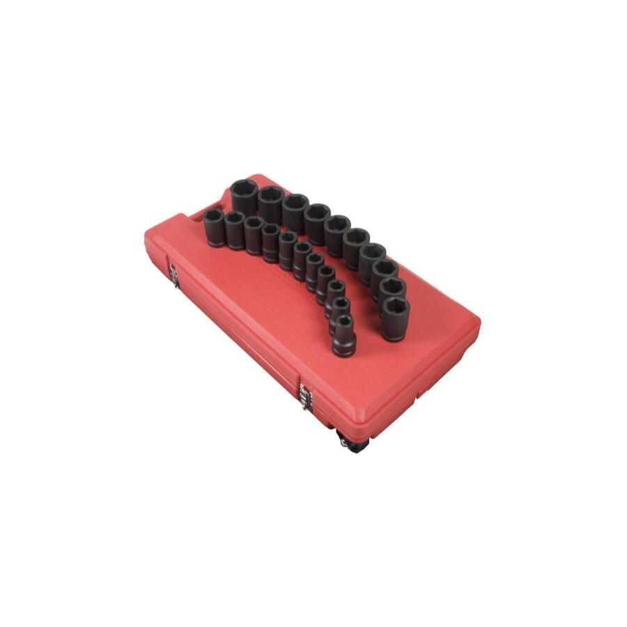 Sunex Tools 21-Piece Standard 6-Point Impact Socket Set