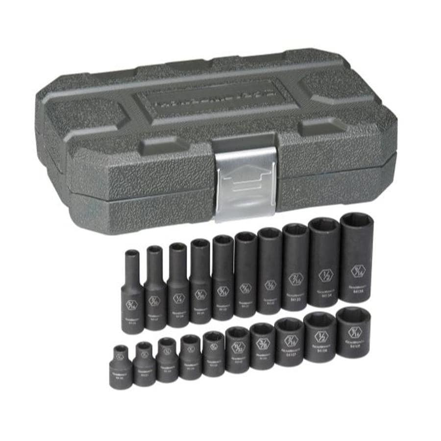 KD Tools 20-Piece 1/4-in Standard 6-Point Impact Socket Set