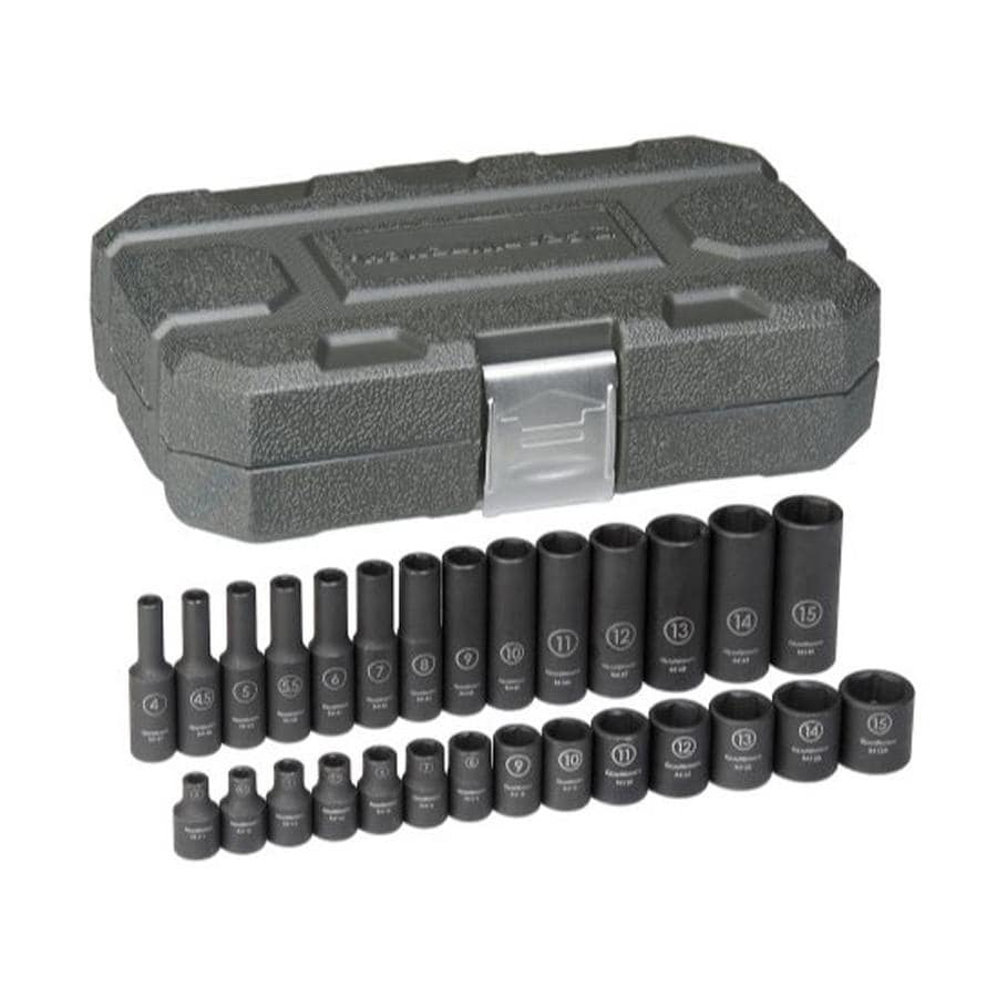 KD Tools 28-Piece 1/4-in Metric 6-Point Impact Socket Set