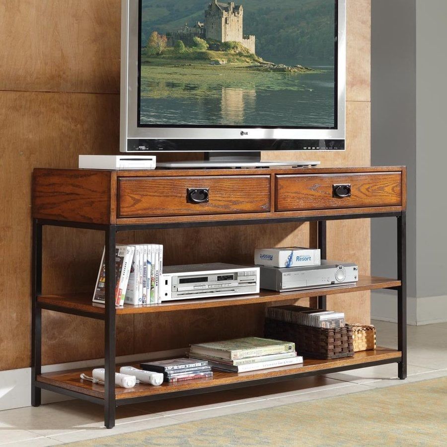 Home Styles Modern Craftsman Oak Tv Cabinet At Lowes Com
