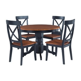 home styles oak dining set with round dining table