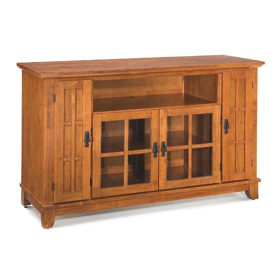Home Styles Arts and Crafts Cottage Oak Rectangular TV Cabinet