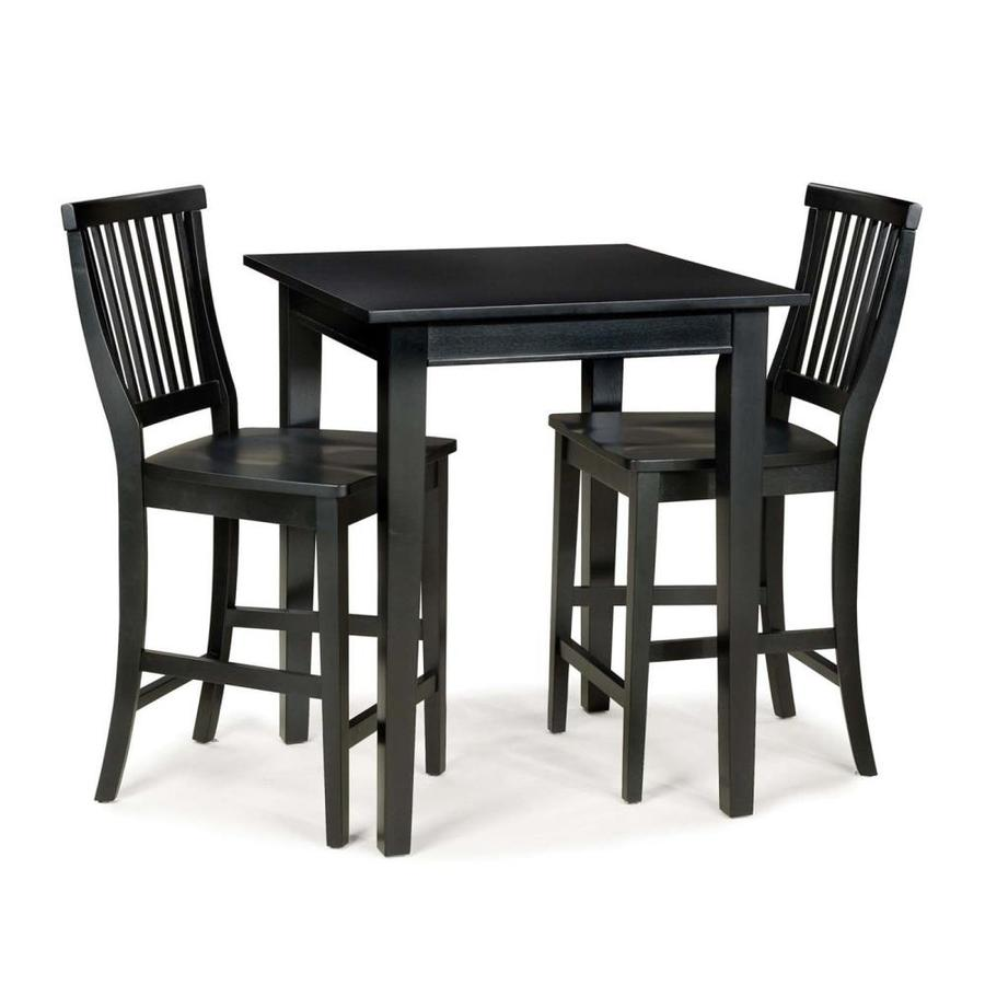 Home Styles Arts & Crafts Ebony Dining Set with Square Counter Table