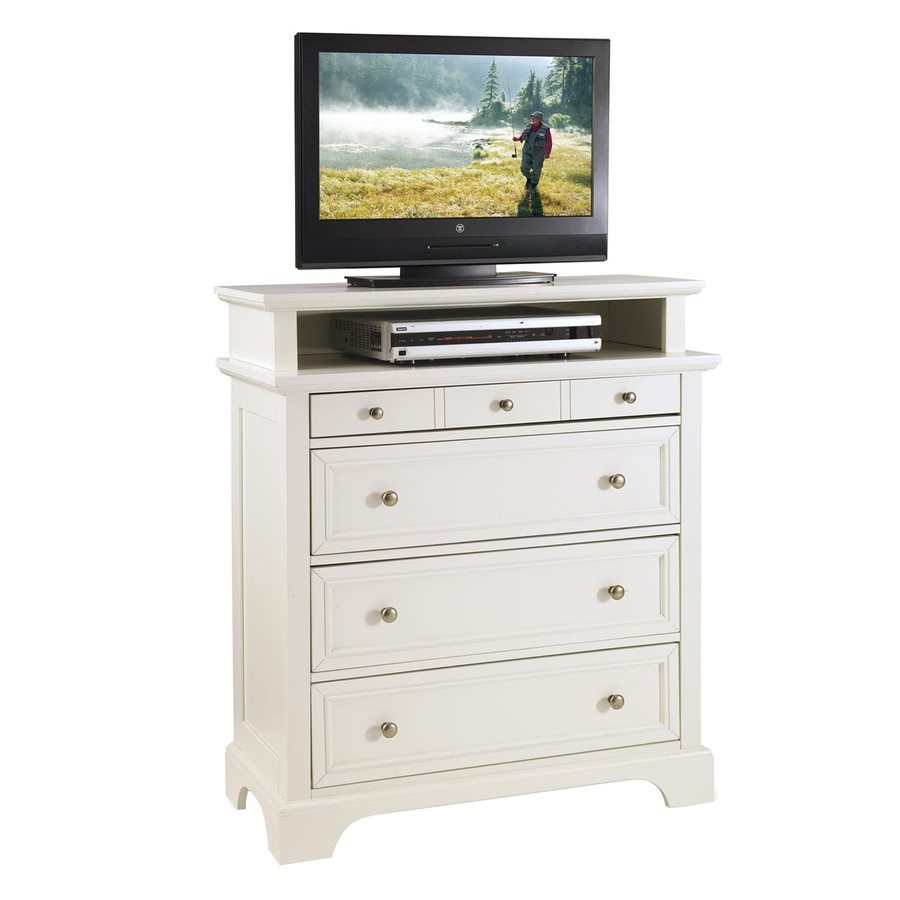 Shop Home Styles Naples White 4 Drawer Chest At