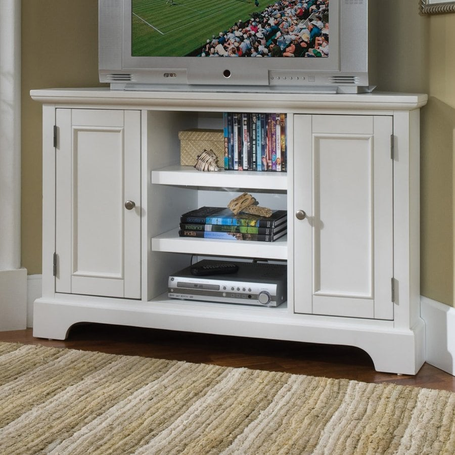 Home Styles Naples Creamy White Corner TV Stand