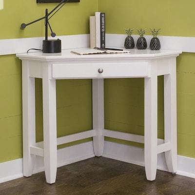 Naples White Corner Desk