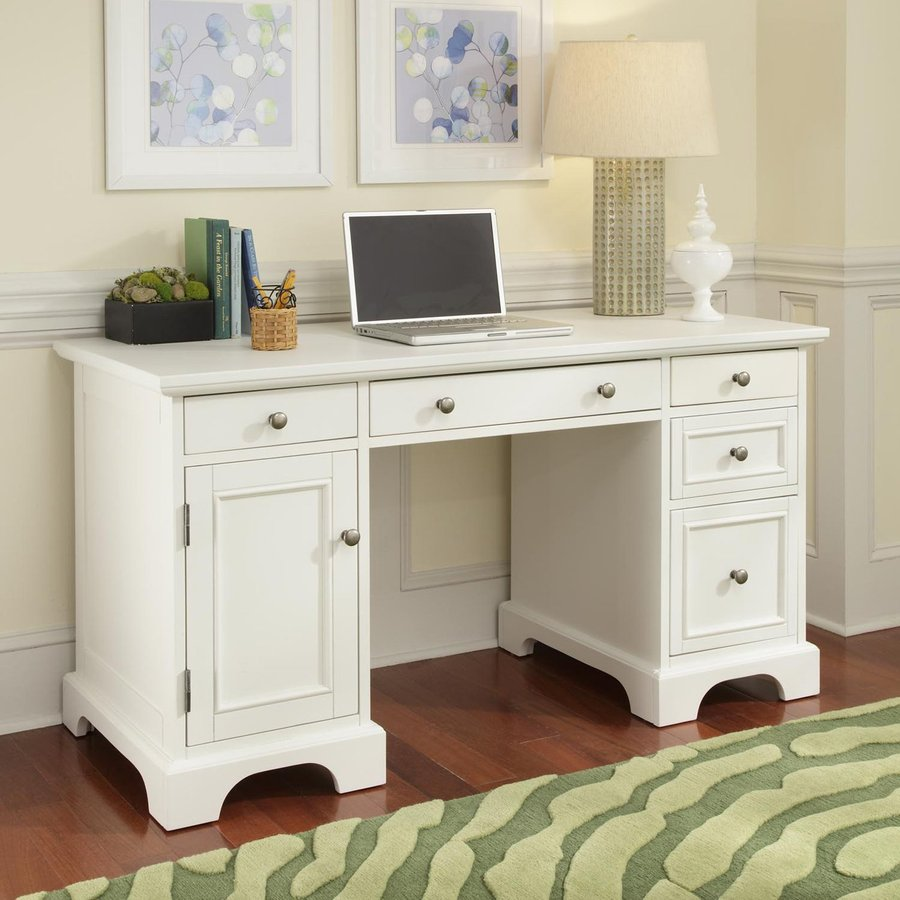 shop home styles naples white computer desk at