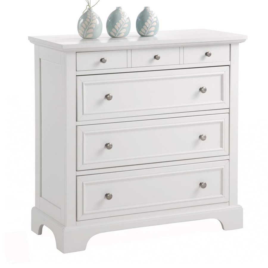 Home Styles Naples White Mahogany 4 Drawer Chest