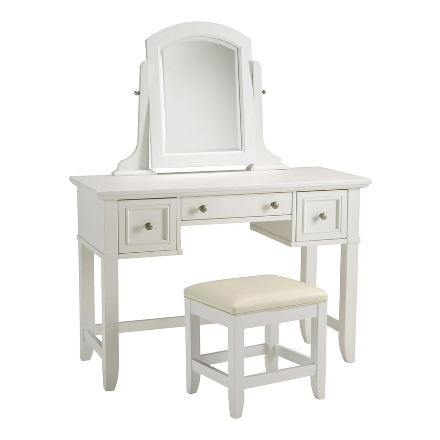 Home Styles Naples White Makeup Vanity