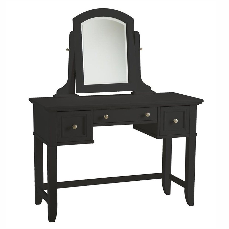 Home Styles Bedford Black Makeup Vanity