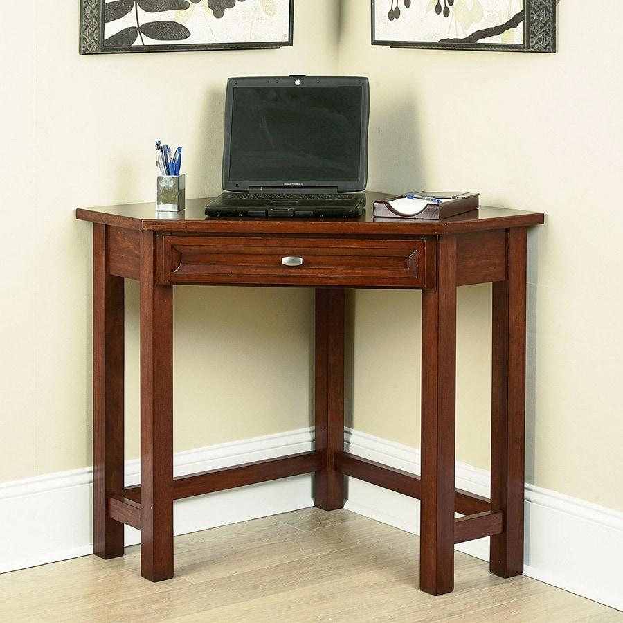 Home styles hanover cherry corner desk at - Corner desks for home ...