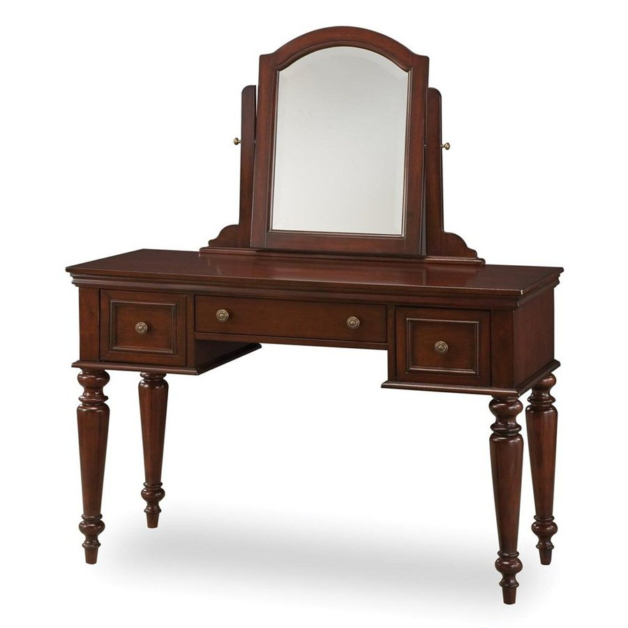 Home Styles Lafayette Cherry Makeup Vanity At Lowes Com