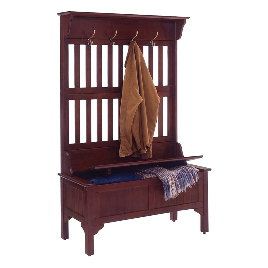 Shop Home Styles Mission Shaker Cherry Hall Tree Bench At
