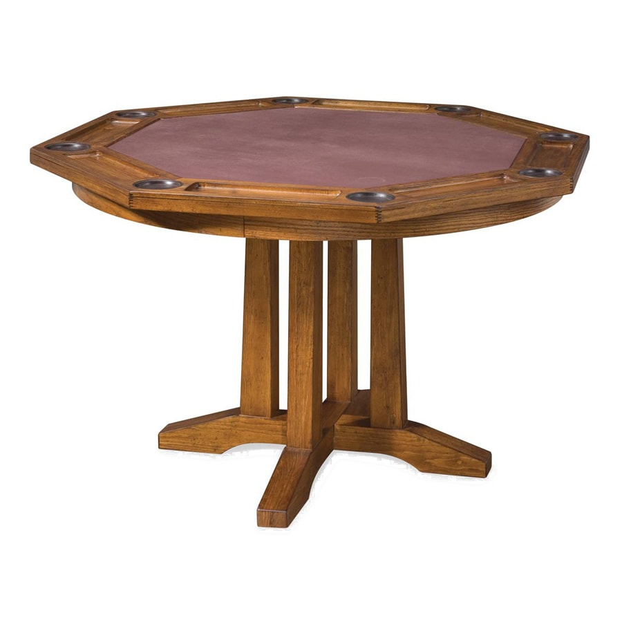 Home Styles Arts And Crafts Oak Wood Poker Table