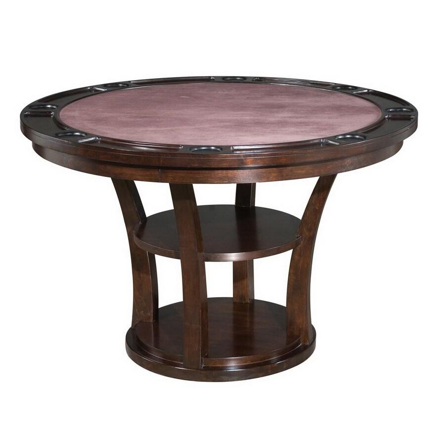 Home Styles Rio Vista Espresso Round Wood Poker Table