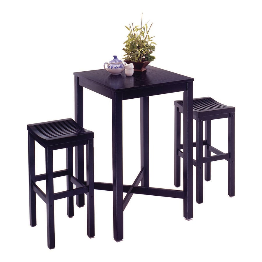 Shop Home Styles Black 3-Piece Dining Set with Bar Table at Lowes.com