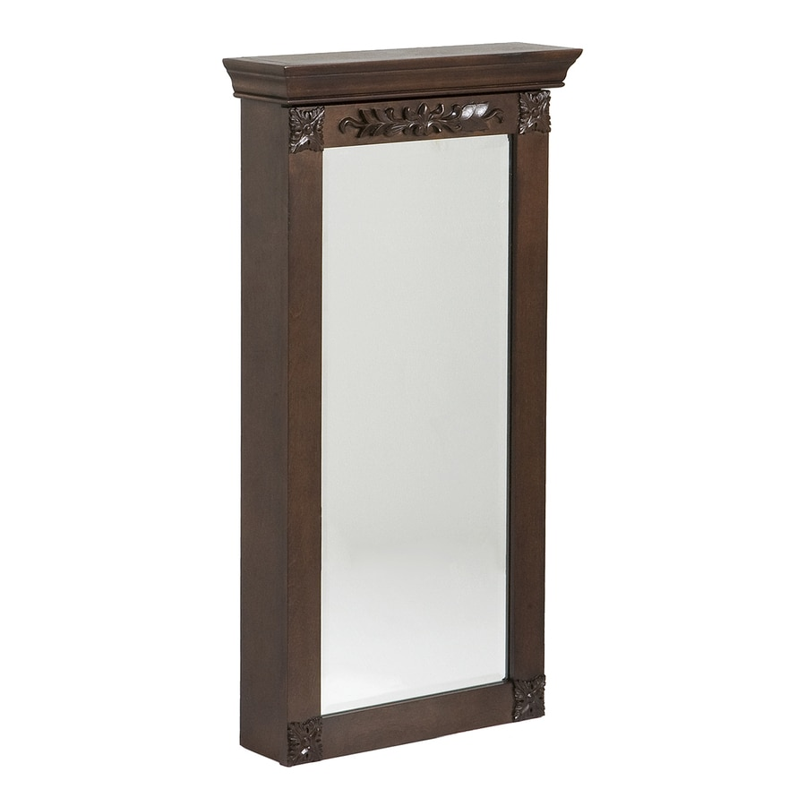 Boston Loft Furnishings Roma Espresso Wall-Mount Jewelry Armoire