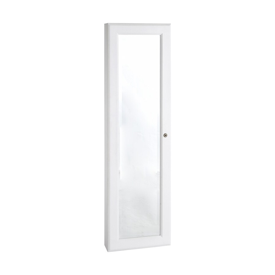 Boston Loft Furnishings Nina Frosty White Wall-Mount Jewelry Armoire