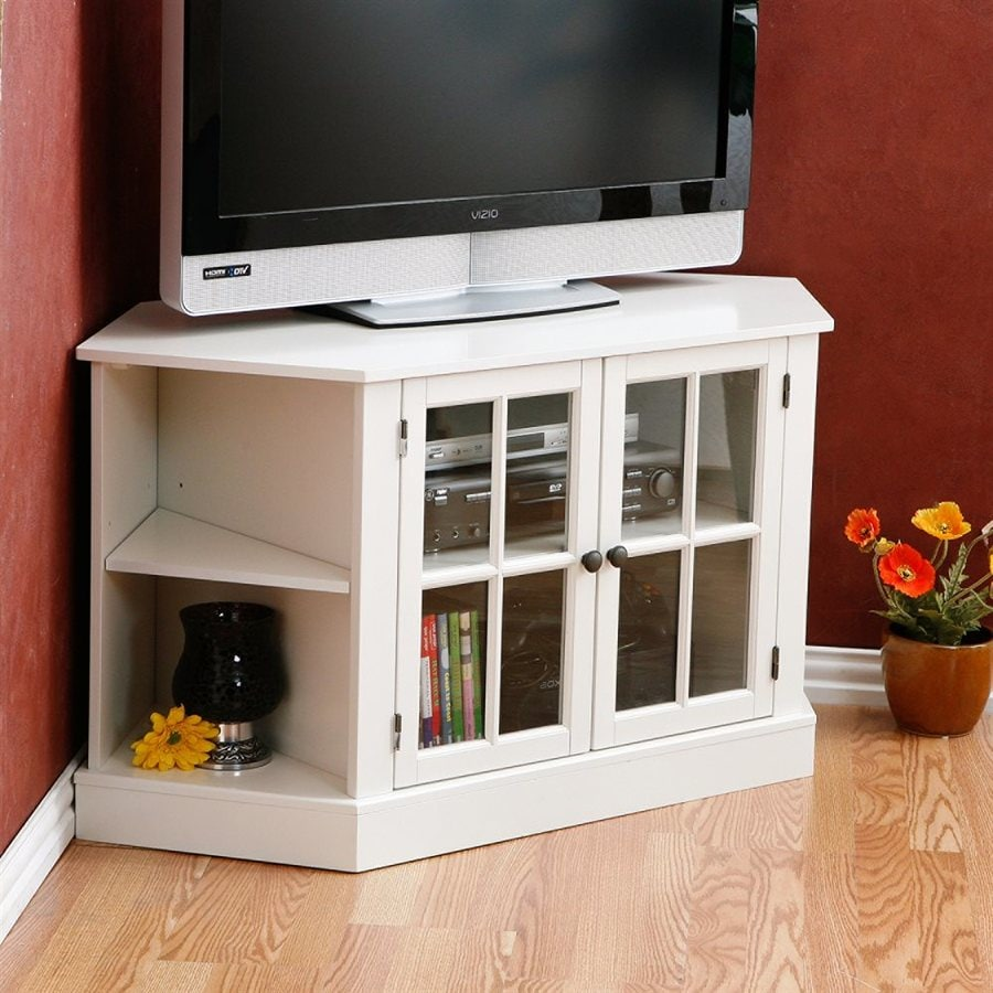 Boston Loft Furnishings Thomas White Corner TV Stand