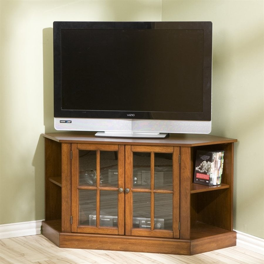 Boston Loft Furnishings Hopewell Walnut Corner TV Stand