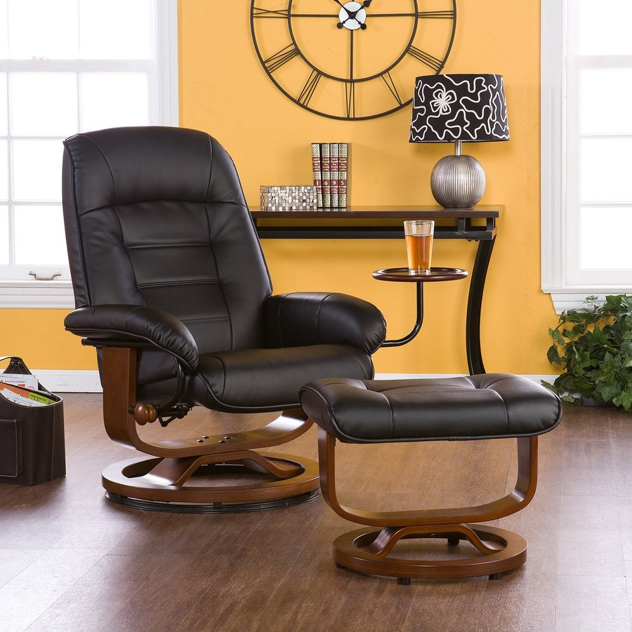 Boston Loft Furnishings Sidley Black Bonded Leather Gliding Recliner
