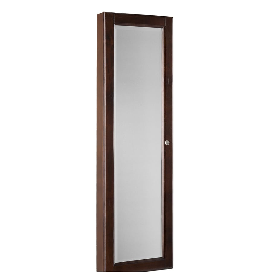 Boston Loft Furnishings Nina Walnut Wall-Mount Jewelry Armoire