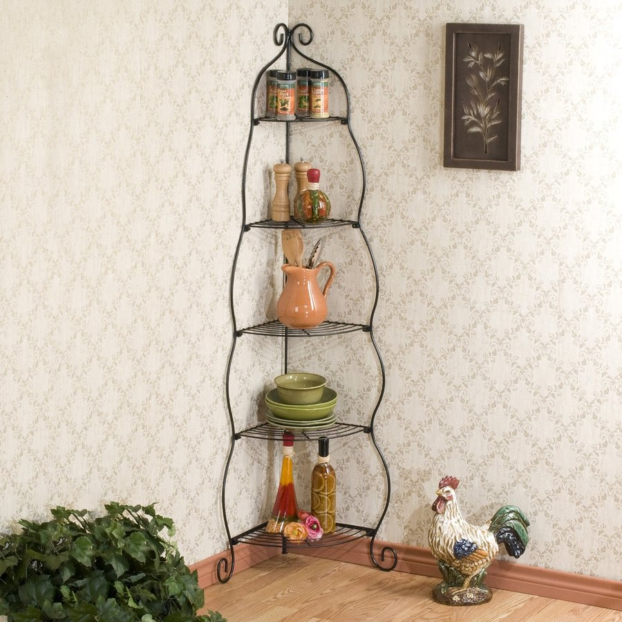 Boston Loft Furnishings Black Metal Etagere