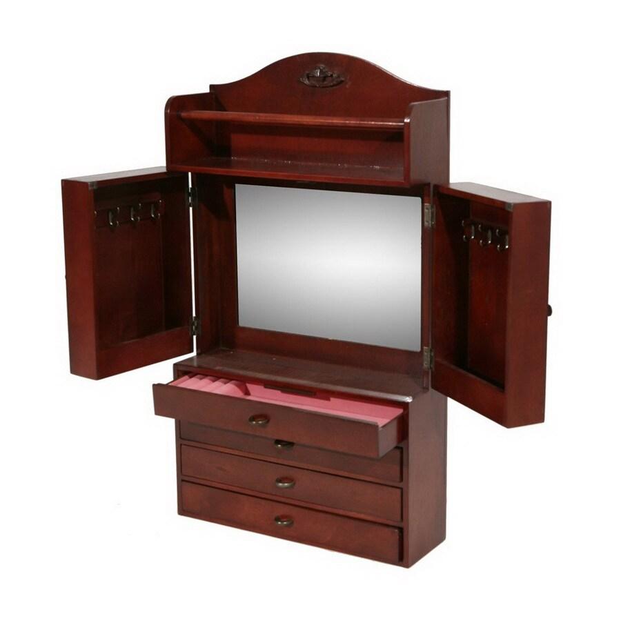 Shop Boston Loft Furnishings Cherry WallMount Jewelry Armoire at