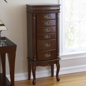Boston Loft Furnishings Krista Mahogany Floorstanding Jewelry Armoire
