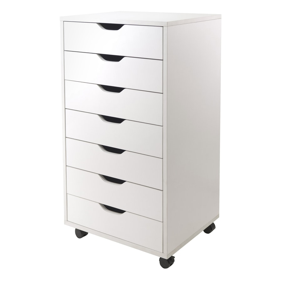shop winsome wood halifax white 7 drawer file cabinet at. Black Bedroom Furniture Sets. Home Design Ideas