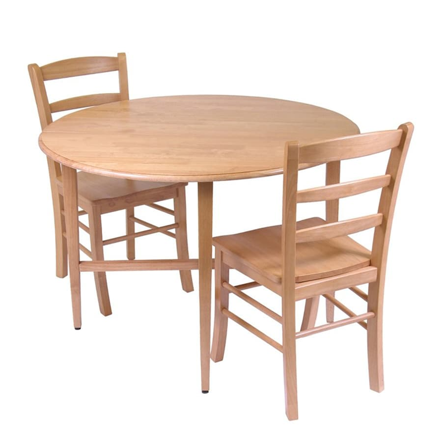 winsome wood hannah light oak dining set with round dining table