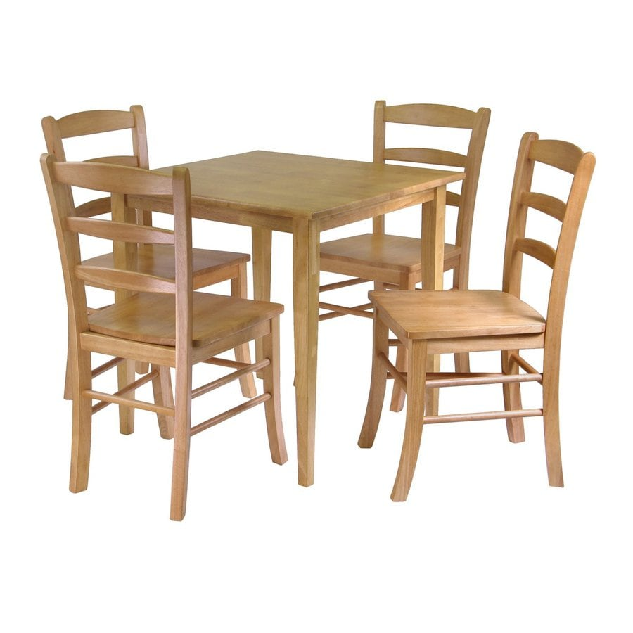 Winsome Wood Groveland Light Oak Dining Set with Square Dining Table