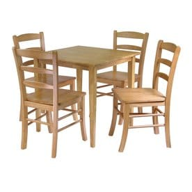 Winsome Wood Groveland Light Oak 3 Piece Dining Set With Dining Table