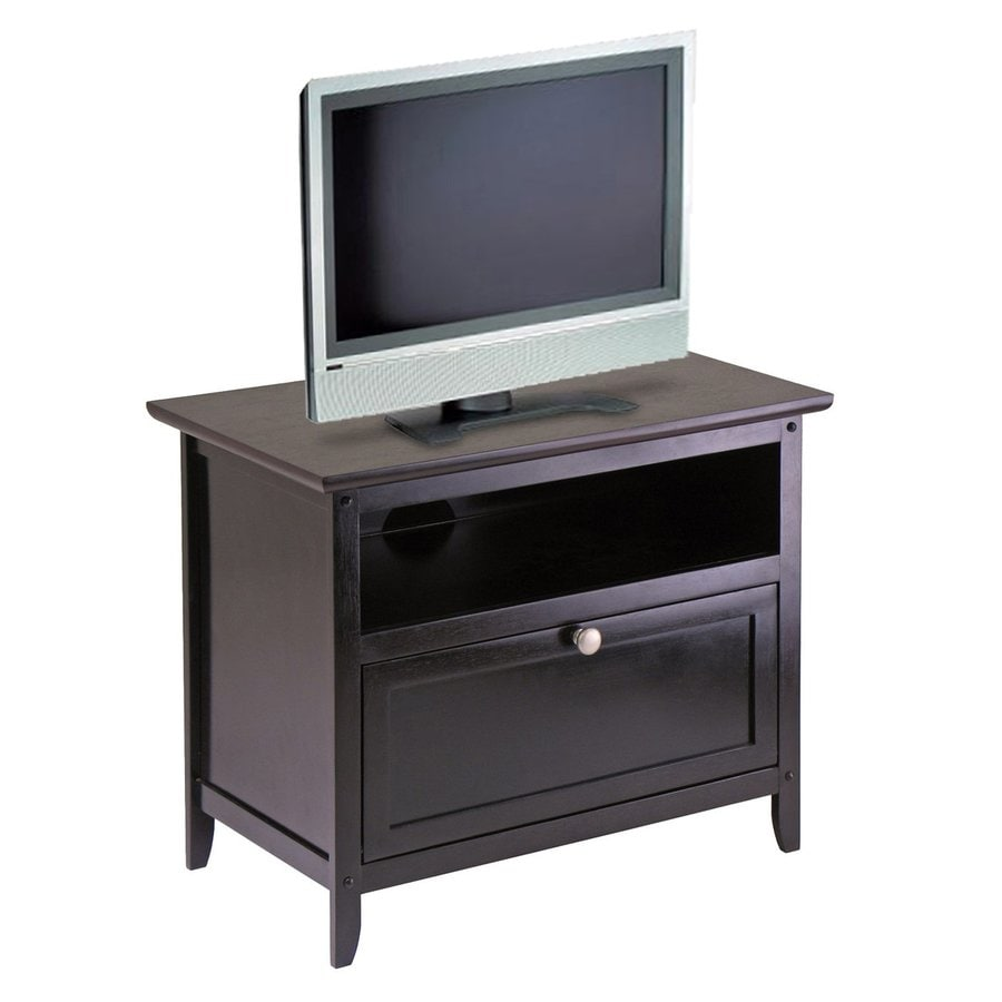 Beautiful Winsome Wood Zara Dark Espresso TV Cabinet