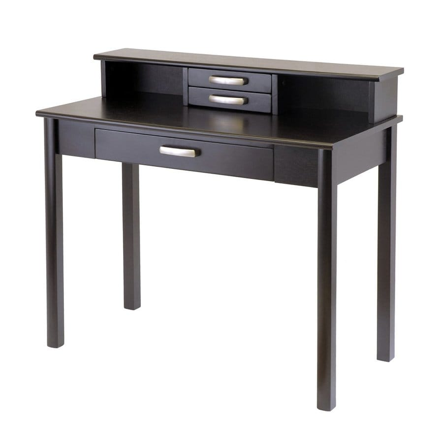 Winsome Wood Liso Transitional Dark Espresso Writing Desk