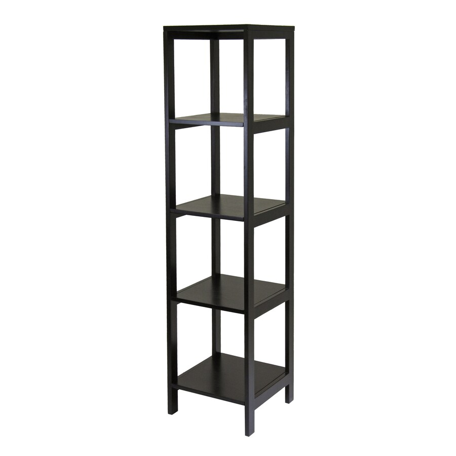 Winsome Wood Hailey Dark Espresso Composite 4-Shelf Bookcase