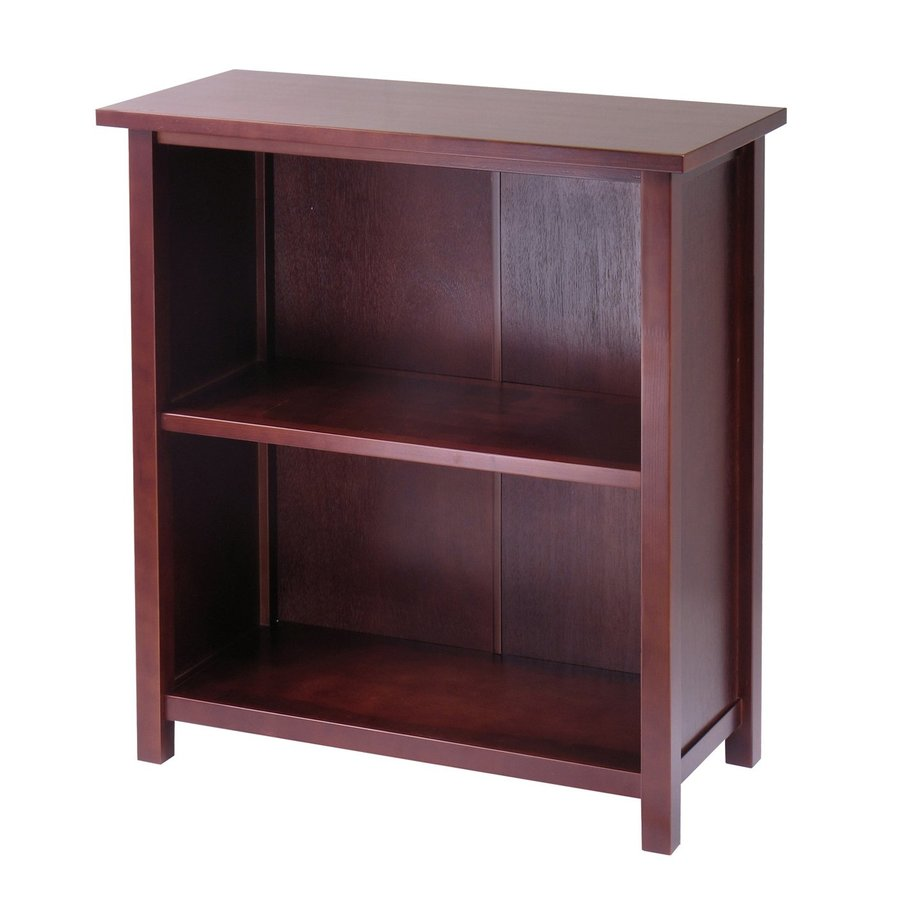 Winsome Wood Milan Antique Walnut 2-Shelf Bookcase