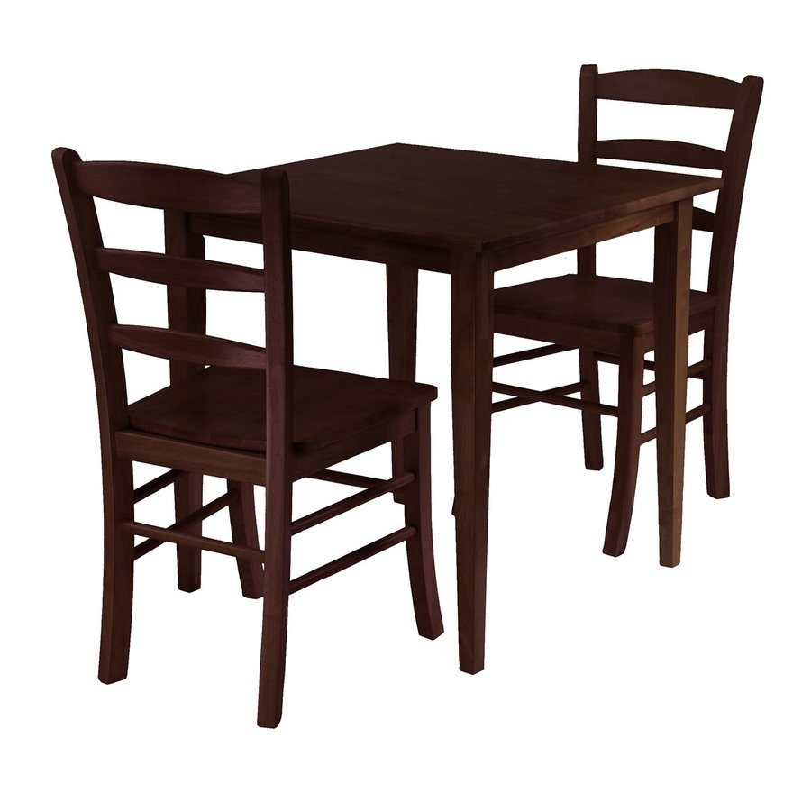 Shop Winsome Wood Groveland Antique Walnut Dining Set with  : 4488600 from www.lowes.com size 900 x 900 jpeg 62kB