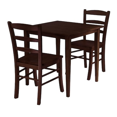 Winsome Wood Groveland Antique Walnut Dining Set with Square ...