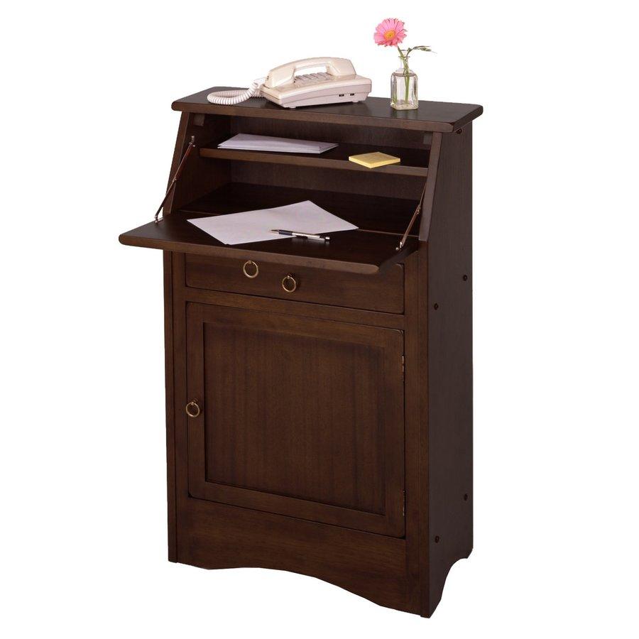 Winsome Wood Regalia Traditional Walnut Secretary Desk