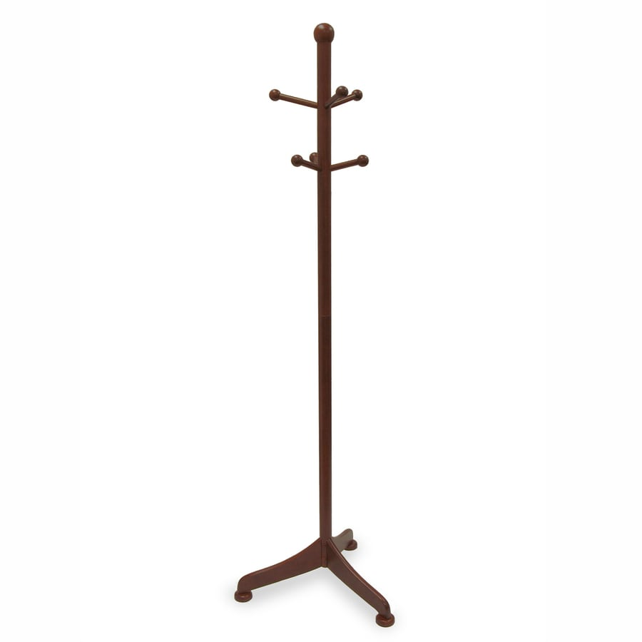 Winsome Wood Philip Antique Walnut 6-Hook Coat Stand