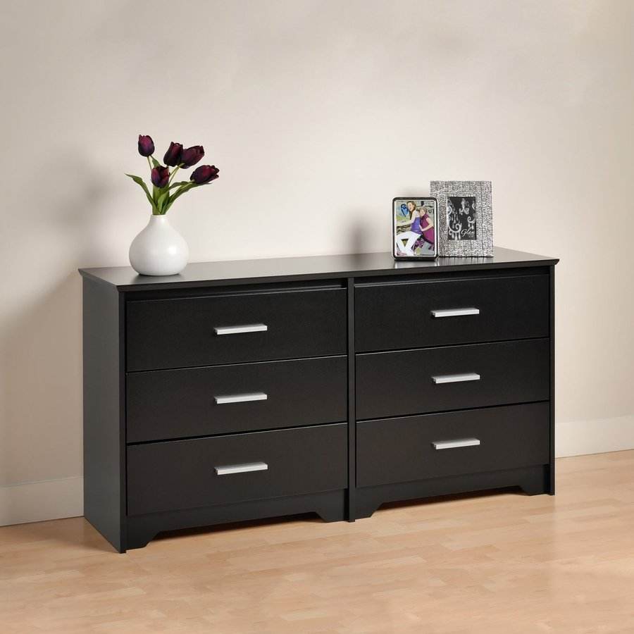 Prepac Furniture Coal Harbor Black 6-Drawer Dresser