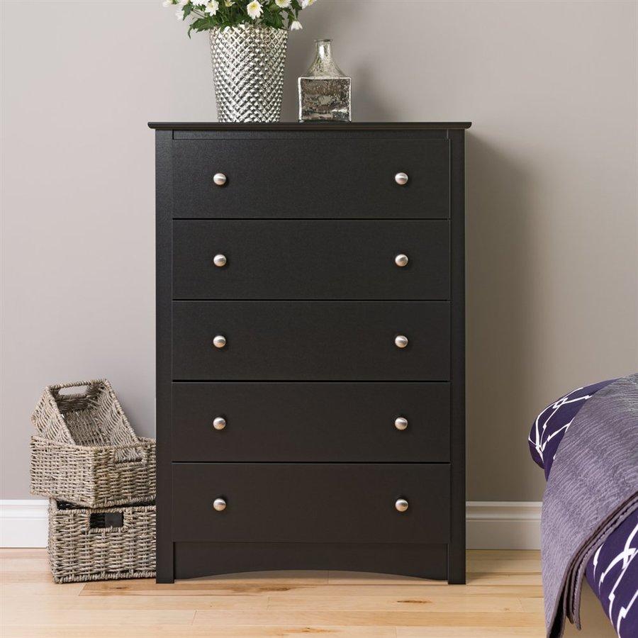 Prepac Furniture Sonoma Black 5-Drawer Chest