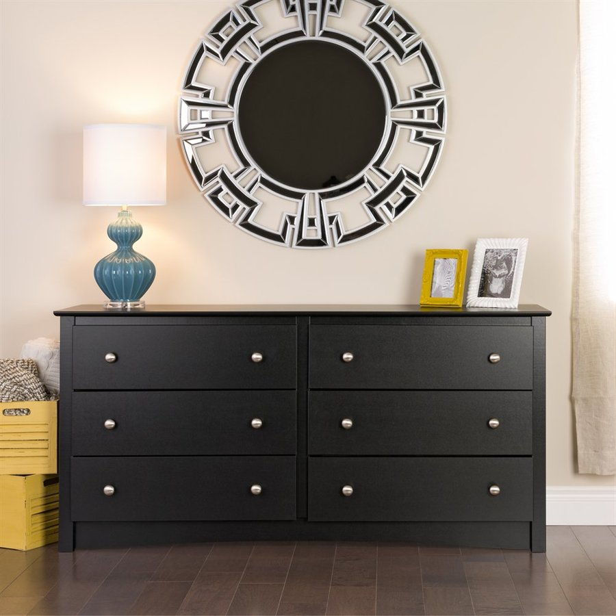Prepac Sonoma Black 6 Drawer Dresser