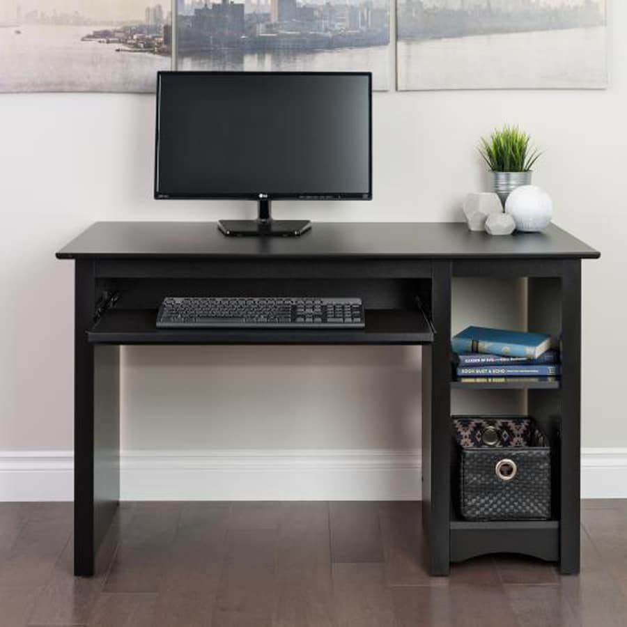 Shop Prepac Contemporary Black Computer Desk At Lowes Com