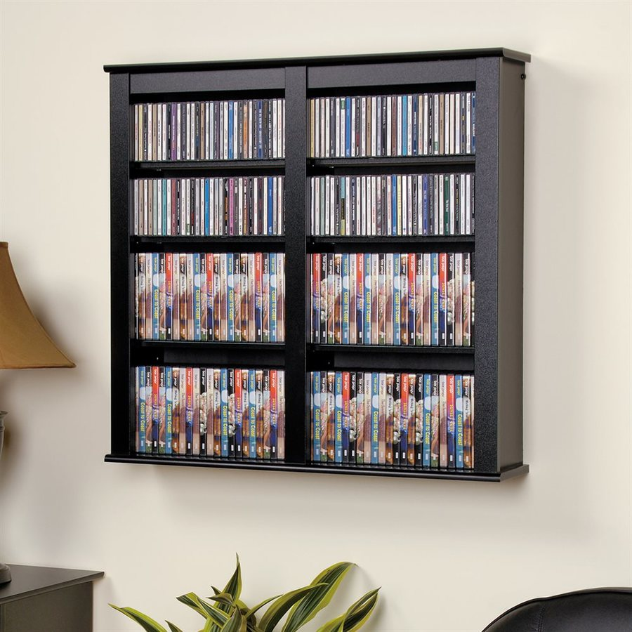 Prepac Furniture Black Composite Wall-Mount Media Cabinet