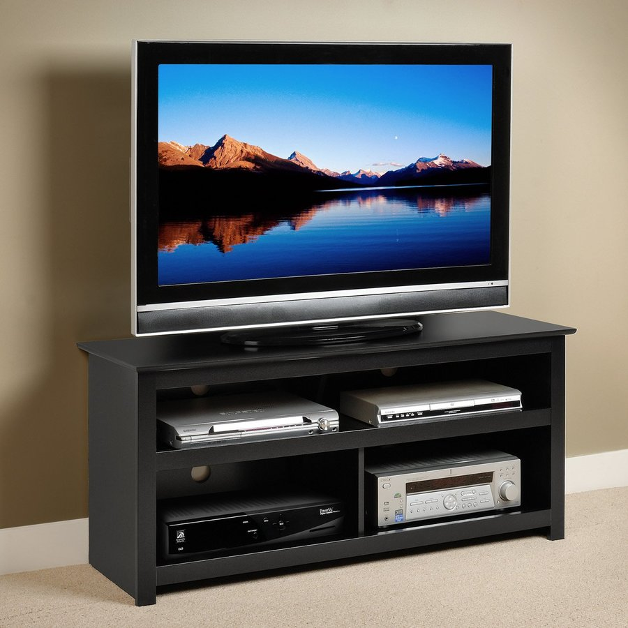 Prepac Furniture Vasari Black Rectangular TV Cabinet