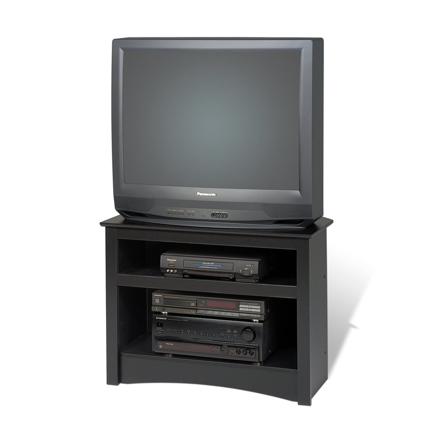 Prepac Furniture Black Corner TV Stand